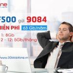 Gói F500 Mobifone miễn phí 63Gb /tháng