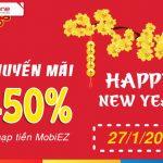 Mobifone khuyến mãi ngày 27/1 tặng 50% nạp tiền EZ