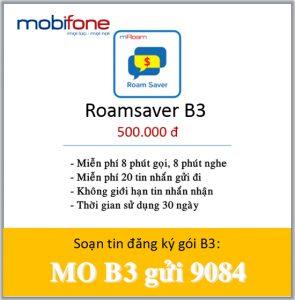 đăng ký gói cước B3 Mobifone