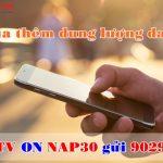 gói cước NAP30 Mobifone