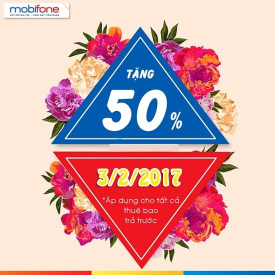 Mobifone khuyến mãi ngày 3/2/2017