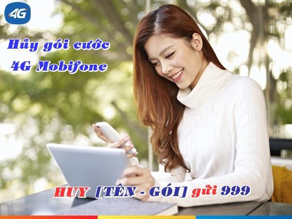 Hướng dẫn cách huỷ gói cước 4G Mobifone