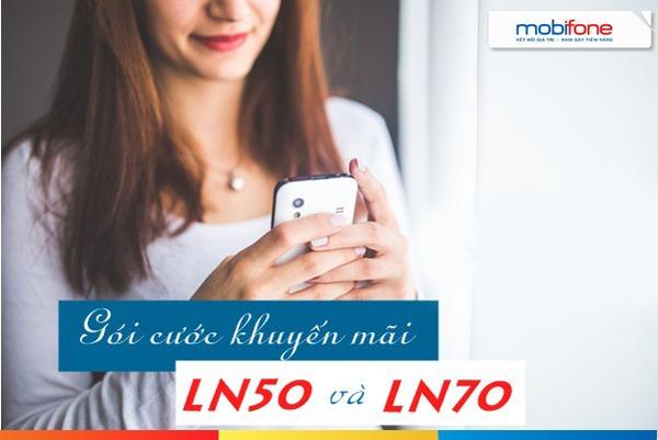 Khuyến mãi gói cước LN50, LN70 Mobifone
