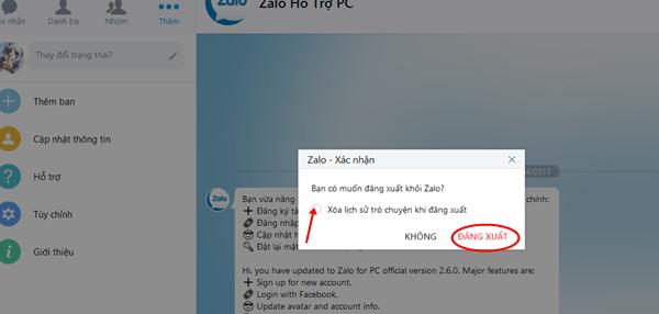 Khôi phục tin nhắn đã xóa trên Zalo
