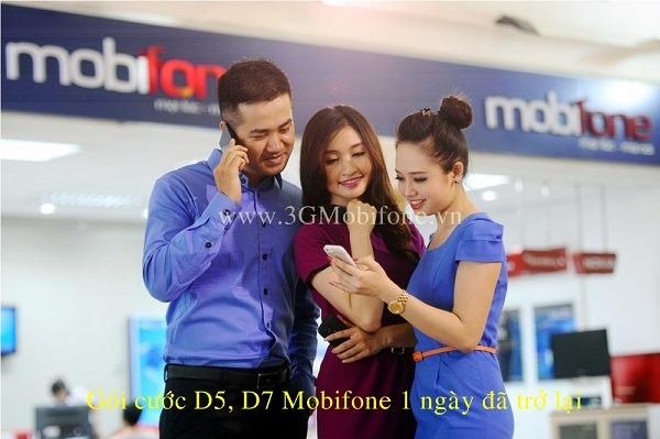 Gói cước D5, D7 Mobifone 1 ngày đã trở lại