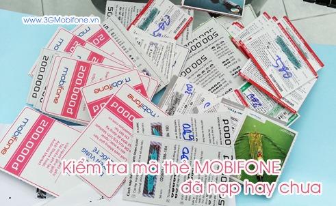 Hướng dẫn kiểm tra thẻ cào Mobifone đã nạp hay chưa?