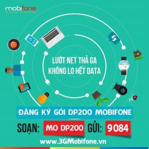 Đăng ký gói DP200 Mobifone ưu đãi 200 phút, 200 SMS và 4GB data