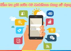 kiểm tra thông tin gói 4G Mobifone đang sử dụng