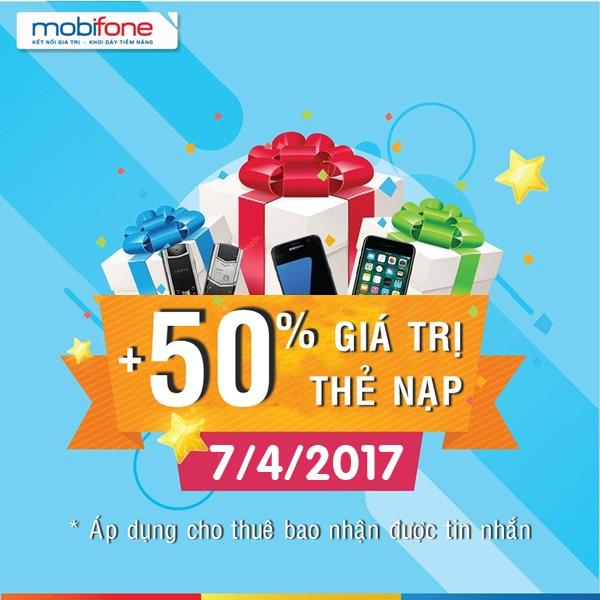 Mobifone khuyến mãi ngày 7/4/2017