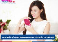 Dùng tài khoản khuyến mãi mua ngày sử dụng Mobifone cực dễ