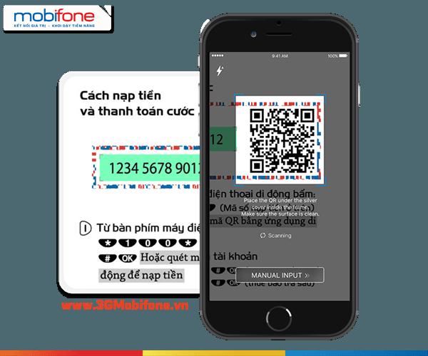 Cách nạp tiền bằng QR Code qua ứng dụng Mobi NEXT Mobifone