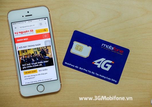 Sử dụng đăng ký mạng 4G Mobifone