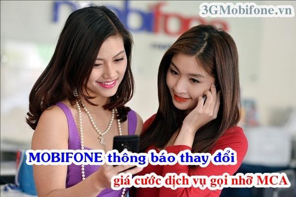 Mobifone thay đổi cước phí cuộc gọi nhỡ MCA
