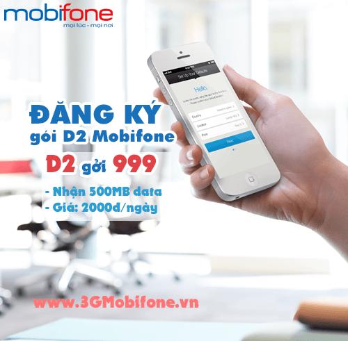 Thông tin gói cước D2 của Mobifone 2000đ/ngày nhận ngay 500 MB