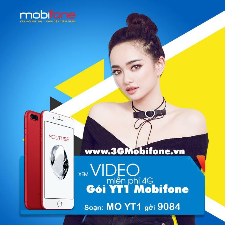 Cách đăng ký gói YT1 Mobifone gói 4G xem Youtube thả ga