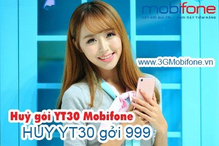 Hướng dẫn cách huỷ gói cước YT30 Mobifone nhanh nhất