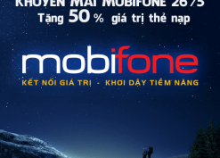 Thông tin khuyến mãi Mobifone ngày 26.5 tặng 50% giá trị thẻ nạp