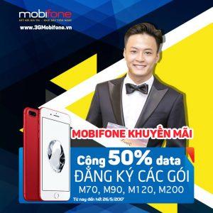 Mobifone khuyến mãi 50% data khi đăng ký gói M70,M90,M120,M200