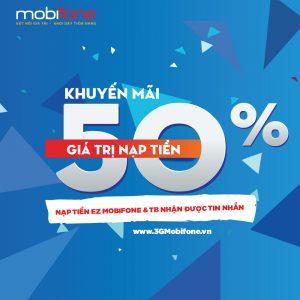 Mobifone khuyến mãi ngày 16/6/2017 - Tặng 50% thẻ nạp cục bộ