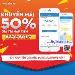Mobifone khuyến mãi ngày 23/6 qua ứng dụng Mobifone Next