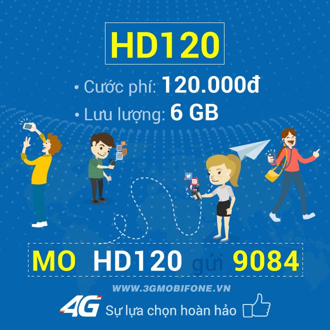Hướng dẫn cách đăng ký gói HD120 Mobifone