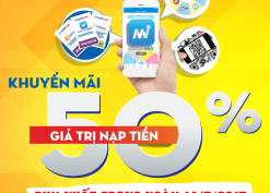 Mobifone khuyến mãi ngày 14/7 tặng 50% thẻ nạp