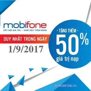 Chương trình Mobifone khuyến mãi ngày 1/9/2017