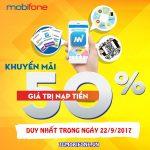 Chương trình Mobifone khuyến mãi ngày 22/9