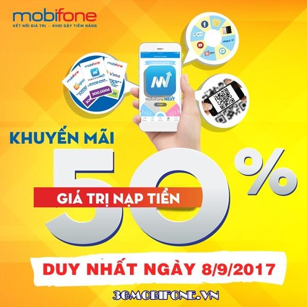 Thông tin Mobifone khuyến mãi ngày 8/9/2017