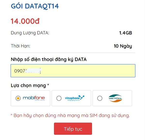 Cách mua Data 3G Mobifone tốc độ cao