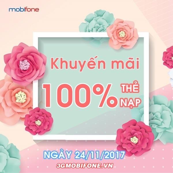 Thông tin Mobifone khuyến mãi ngày 24/11/2017