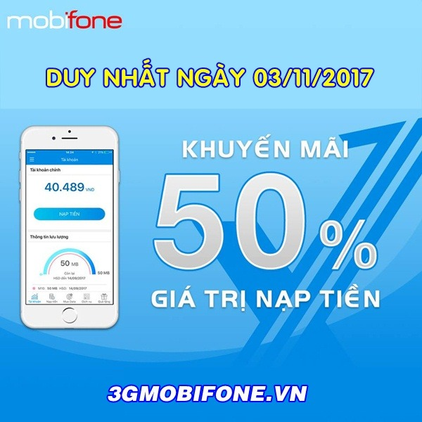 Chương trình Khuyến mãi Mobifone ngày 3/11