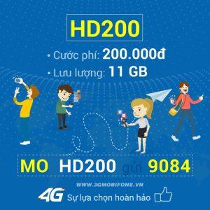 Đăng ký gói HD200 Mobifone