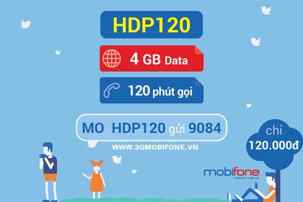 Đăng ký gói HDP120 Mobifone