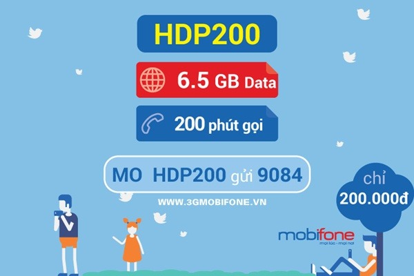 Đăng ký gói HDP200 Mobifone
