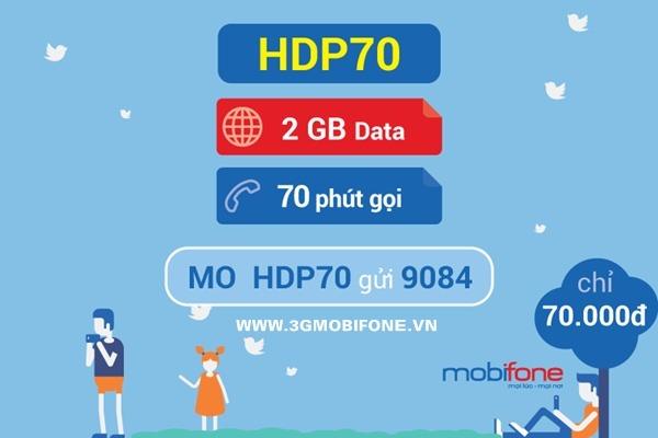 Đăng ký gói HDP70 Mobifone