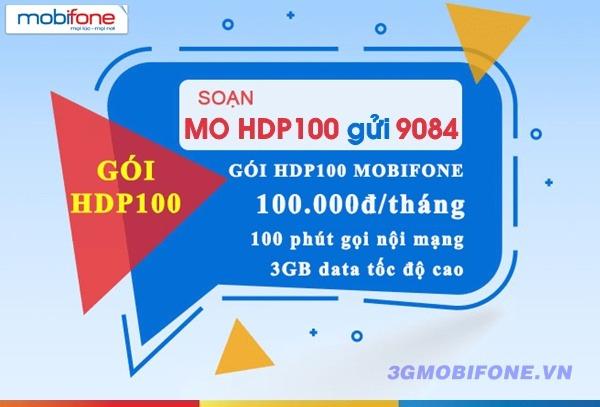 Đăng ký gói cước HDP100 Mobifone