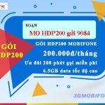 Cách đăng ký Gói cước 4G HDP200 Mobifone