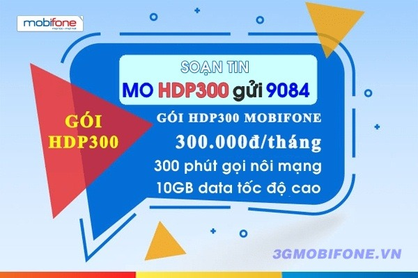 Đăng ký Gói cước HDP300 Mobifone