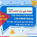 Đăng ký gói 4G HDP120 Mobifone