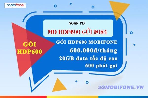Đăng ký Gói cước HDP600 Mobifone