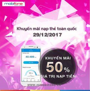 Chương trình Mobifone khuyến mãi 29/12/2017