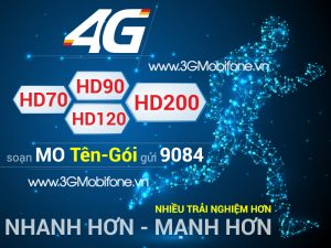 Bảng giá các gói cước 4G Mobifone mới nhất 2018 - 4G Mobifone
