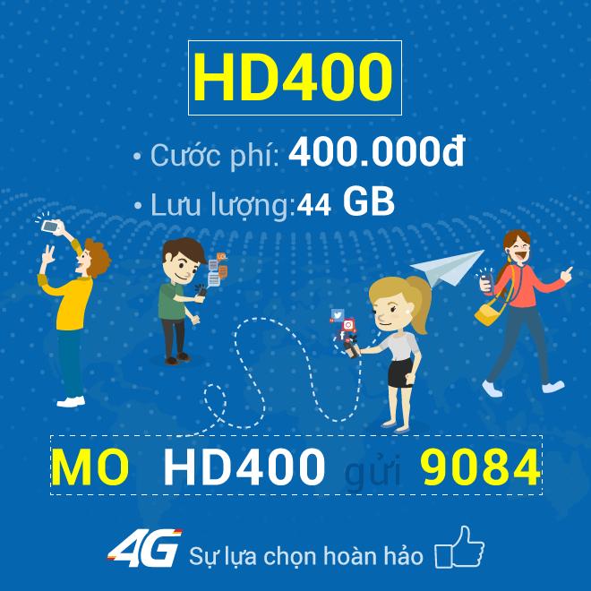 Cách đăng ký gói HD400 Mobifone nhận ngay 44GB Data 4G chỉ 400.000đ