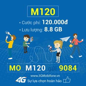 Cách đăng ký gói cước M120 Mobifone nhận 8.8GB data chỉ 120.000đ