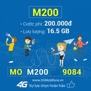 Ưu đãi 16.5GB Data giải trí thả ga khi đăng ký gói cước M200 Mobifone