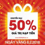 Mobifone khuyến mãi ngày 6/2/2018 tặng 50% giá trị thẻ nạp ngày vàng