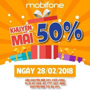 Chương trình Mobifone khuyến mãi ngày 28/2/2018