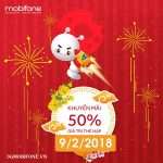 Chương trình Mobifone khuyến mãi ngày 9/2/2018