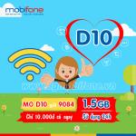 Đăng ký gói cước D10 Mobifone nhận 1,5GB Data tốc độ cao